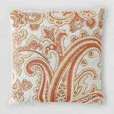 "Sferra Coletti Decorative Pillow 20"" x 20"" Bloomingdale's Ivory / Copper v15"
