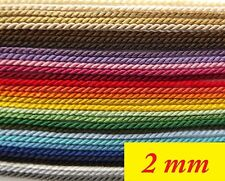 Twisted Cord, Braided cord, Soutache, Ply cord – 2 mm wide   (L)