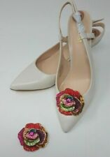Multi Color Rose Rhinestone Shoe Clips, Clips for Shoes, Shoe Accessories
