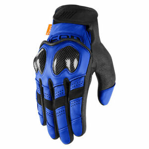 2021 Icon Contra 2 Leather Textile Street Motorcycle Gloves Pick Size & Color