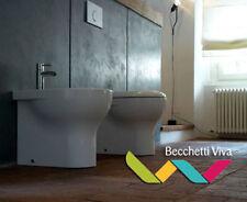 SANITARI FILO PARETE GLOBO SERIE GRACE 52.36 - VASO WC + SEDILE + BIDET