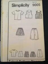 Simplicity Sewing Pattern 9005 No Packaging Children Top & Bottoms Size 5-6x UC