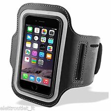 Bracciale Fascia braccio Sport per Apple iPhone 5 5C Armband fitness corsa Nera