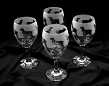 More details for cocker spaniel dog gift wine glasses.  boxed