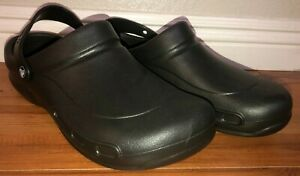 Crocs Classic Rubber Solid Slip On Slippers Black Mens NWT
