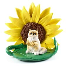 Ragdoll Cat Sunflower Figurine