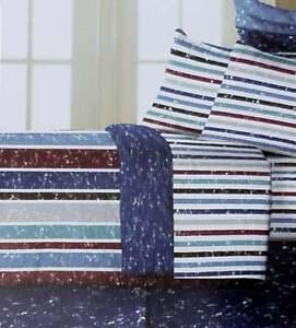 VINTAGE STRIPES TWIN COMFORTER SHEETS SHAM BEDSKIRT 6PC BEDDING SET NEW