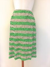 J CREW Collection Pencil Skirt in Swirled Sequin Stripe Size 6 GGR #86914 $750