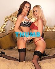 Anita Dark - 10x8 inch Photograph #001 in Lingerie with Brunnette Friend