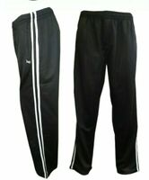 TRACKSUIT BOTTOMS SILKY JOG BIG & TALL JOGGERS JOGGING STRIPED GYM SPORTS PANTS