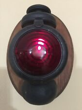"""Vintage Marine Lamp Lantern Red for Wall Sconce, 9"""" Tall x 5"""" Widest (Lamp)"""