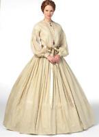 B5831 Sewing Pattern Civil War Era 1860s Fashion Misses Dress Underskirt Costume
