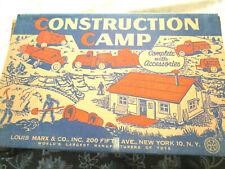 MARX CONSTRUCTION CAMP PLAYSET #4440 Nice Used Shape