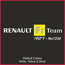 Clio R27 197 asiento Runner calcomanías x2, etiqueta engomada, gráficos, F1, N2202, asientos, Racing