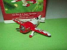 Hallmark Airplane Gee Bee R-1 Super Sportster 5th Sky's the Limit 2001 Ornament