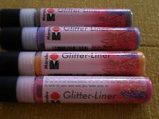MARABU - Glitter Liner - Papier, Holz, Glas, Metall u.Textilien - braun