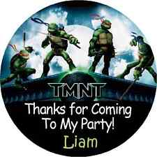 NINJA TURTLES #2 BIRTHDAY PARTY THANK YOU FOR COMING TO MY PARTY STICKERS FAVORS