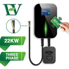 EV Charging Station With RFID 32A Electric Car Charger Wallbox 3Phase Type2 22KW