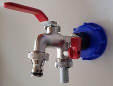 """IBC Adapter 1/2"""" Auslaufhahn Regenwasser Tank Garten Schlauchhahn #8D WS"""