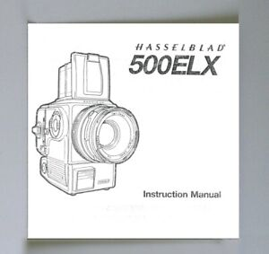 Hasselblad 500ELX Instruction Manual photocopy