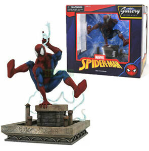 Marvel Gallery Line Detailed Spider Man Swinging Version Diorama Sculpted Statue