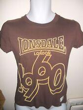 LONSDALE - BROWN LOGO, 100% COTTON REGULAR T-SHIRT Size  10