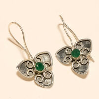 Natural Zambian Emerald Earrings 925 Sterling Silver Handmade fine Jewelry Gifts