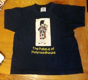 The Place of Holyroodhouse T shirt Age 4-5 Royal Collection Cold Stream Guards