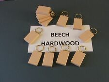 BLANK KEYRINGS-BEECH WOOD pyrography,painting or engraving--24 in pack £7.99+car