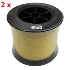 2x 80LB Fishing Line 1200M 100% Dyneema Yellow Braided Fish-Tackle Strong Heavy