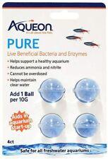 Aqueon Pure Aids in Aquarium Startup 4 Live Beneficial Bacteria and Enzyme Balls