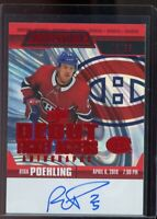 Ryan Poehling #RTAA-RP - 2019-20 Credentials Debut Ticket Access Auto Red #/65