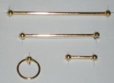 Handtuchhalter-Set, goldfarbend, Maßstab 1:12, Miniatur f.d. Puppenstube