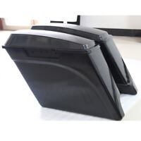 "Unpainted 5"" Stretched Extended Hard Saddlebags fit for Harley Touring 93-13"