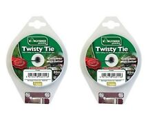 2 x Kingfisher - Garden Twisty Tie With Cutter - Plastic Garden Twine 80 Meter