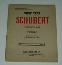 SCHUBERT PIANOFORTE SOLO PIECES - MINIATURE EDITION