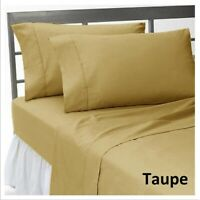 Extra Deep Pocket Bedding Collection 1000tc Egyptian Cotton Cal King Size Taupe