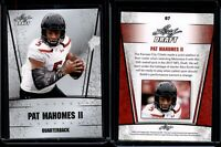 "PAT MAHOMES II 2017 LEAF DRAFT ""SILVER EDITION"" CRACKED GLASS Print Error Rookie"