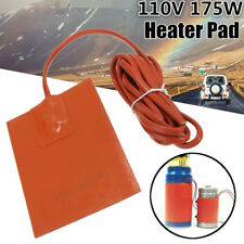 175W 110V Engine Heater Oil Pan Tank Car Truck Start Pre Heater Silicone Hot Pad