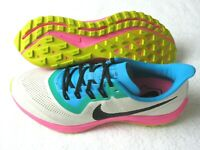 Nike Mens Air Zoom Pegasus 36 Trail Running Shoes White Black Pink Size 11.5