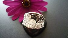 GENUINE SOLID 925 STERLING SILVER ZIRCONIA RING MADE IN ITALY SIZE US 7 AU N1/2