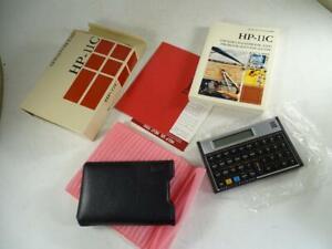 Vintage Hewlett Packard HP-11c Scientific Calculator w/ Box Engineer Retro Old