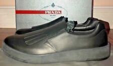 Mens Prada Black Leather Slip On Shoes 11