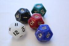 5 Würfel 12-seitig pearl Zahlenwürfel Spielewürfel Spielezubehör D12 W12