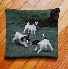 Smooth Fox Terrier Dog tapestry pillow by Golden Horn Creations new