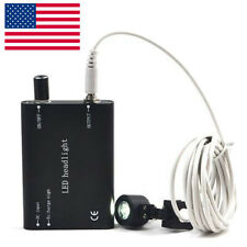 Black Portable Led Head Light Lamp For Dental Loupes Rechargeable High Intensity
