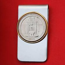 US 2010 Arkansas Hot Springs National Park Quarter BU Coin Two Toned Money Clip