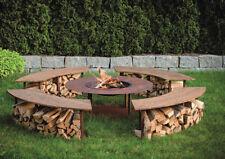 Feuerstelle Feuerplatz Feuerschale Gartenfeuer Circle mit Grillaufsatz & Bänken