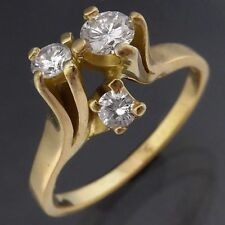1899a2bbe98d4a Modern Freeform Asymmetric 18k Solid Yellow GOLD DIAMOND CLUSTER RING Sz L