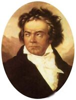Oil painting male portrait Musical genius Musician Beethoven canvas
